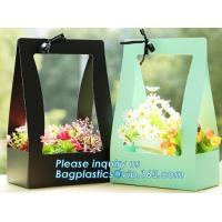 China Fashion Design Flat Paper Handle Paper Gift Bag Flower Carrier Bag,nice style flowers printing paper carrier bag, bageas wholesale