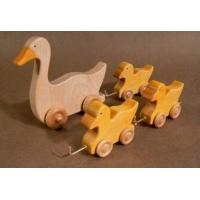 Kids Educational Wooden Toys Cute Toddlers Duck 150 X 140 X 12 mm
