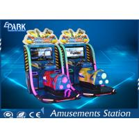 China HD Display Boat Racing Games / Arcade Racing Simulator Leather Vibration Seats on sale