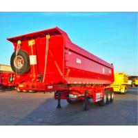 China CIMC Tandem Dump Trailer Truck Deforming Resistance With HOWO Truck Head on sale