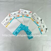 China Color Clip Chain Packaging Poly Bags 10.5 * 15 for Noodle Line / USB / Car Charger wholesale