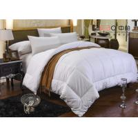 China 100% Cotton White Hotel Bedding Duvet Microfiber / Hollofiber / Down / Feather Filling wholesale