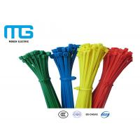 China Custom Color Reusable Tie Wraps , Plastic Ties For Cables CE Approved wholesale