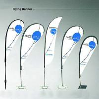 Buy cheap Outdoor Printed Business flags and banners height up to 4m Screen print from wholesalers