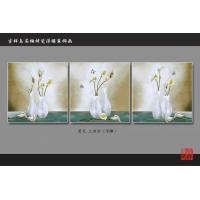 China 3D 4D 5D Faux Tile Wall Panels Bamboo Fiber Calla Lily Pattern Fireproof wholesale