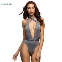China Varleinsar Sexy Deep V Neck wrap around High waist one piece swimsuit women swimwear Female bathing suit swim wear Monok wholesale