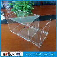 China factory custom clear acrylic shoe boxes/perspex shoe box/display shoe box wholesale