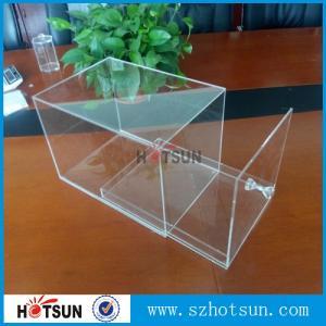 China factory custom clear acrylic shoe boxes/perspex shoe box/display shoe box wholesale