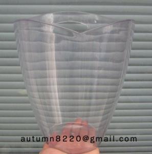 China lucent ice cream maker plastic bucket wholesale