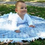 China microfiber custom children small round beach towel kids round towels kids roundies wholesale