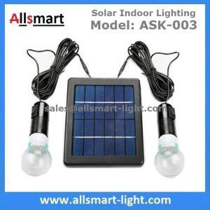 China 4000mAH Li-ion Battery 2pcs 3W 20LED Bulbs Solar Home Kits Indoor Lighting DC Solar Garage Barn System 3W Solar Panel wholesale