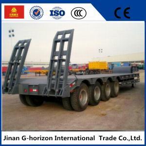 China High Loading Capacity Low Bed Semi Trailer 3 Axle 60T 7950+1305+1305 mm Wheelbase wholesale