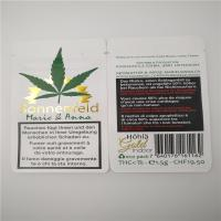 China Hotstamped White Customized CBD Leaves Paper Bags , Kraft Paper Packaging For Tobacco CBD Leaves wholesale