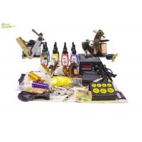 China Complete Tattoo Starter Kits With 4 Bottles 5ml Color Ink 2 Tattoo Machine wholesale