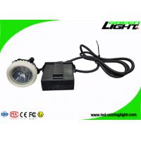 China 4000lux Brightness Mining Hard Hat Led Lights High Intensity With Cable Length Customized wholesale