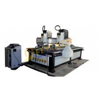 China Multi head cnc cylinder wooden router machine with double rotary axis on sale