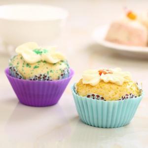 China cupcake mold  Fda standard Silicone cupcake molds 12pcs/sets custom pantone color wholesale
