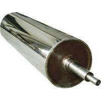 China Wear Resistance Chrome Long Mirror Roller For Leatheriod , Paper , Glass , Textiles wholesale