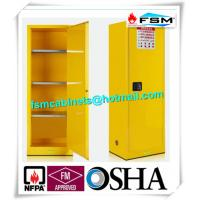 China Flammable Chemical Safety Storage Cabinets 22 Gallon With Single Door wholesale