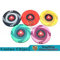 Ceramic Casino Poker Chips , Poker Chips And Cards With Dynamic Textures Design for sale