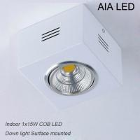 China IP42 White high lm adjustable COB 15W led down light&LED Grille light wholesale