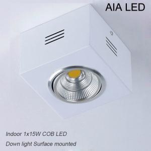 China IP42 White high lm adjustable COB 15W led down light&LED Grille light wholesale