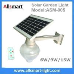 China 6W/9W/15W Solar Parking Lot LED Light Solar Garden Wall Light LED Street Light With Solar Panel Mount On Lamp Pole Post wholesale