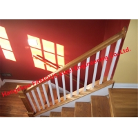China Modern 1000mm Stair Hand Railings , 3FT Wooden Handrails For Indoor Stairs wholesale