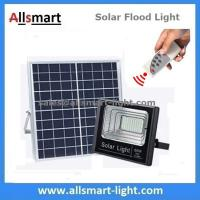 Buy cheap 60W 100LED Solar Flood Lights with Remote Outdoor Battery LED Light With Solar Panel for Garden Patio Street Parking Lot from wholesalers