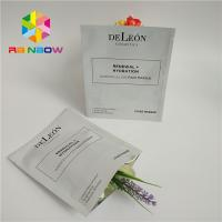 China 3 Layers Laminated Material Plastic Pouches Packaging Mask Foil Ziplock Bag For Facial Eye Mask wholesale