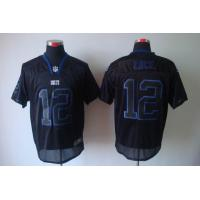 China Nike NFL Indianapolis Colts 12 Luck lights out black elite jersey wholesale