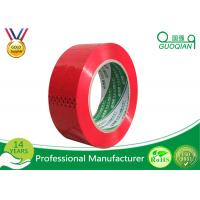 China Red Cargo Wrapping BOPP Adhesive Tape Biaxially Oriented Polypropylene Packaging Tape wholesale