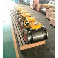 China ANSI Class 150 Flanged End Ball Valve Gear Operated Forged Steel A105 LF2 on sale