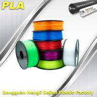 China Desktop 1.75mm / 3.00 mm PLA 3D Printer Filament Big Size Colorful wholesale