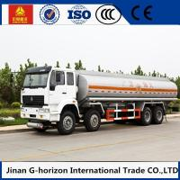 HOWO 8X4 Oil Tank Truck Trailer / Fuel Tank Truck Single - Plate Dry Clutch