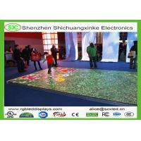 China 3D Outdoor Digital LED Dance Floor for Party , 5 Years Warranty With WIFI wholesale