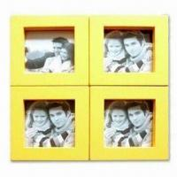 China Wooden Photo Frame with 28.4 x 28.4cm Outer Measurements, Various Sizes and Colors Available wholesale