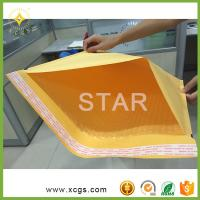 China Gold Yellow Kraft Paper Mailing Envelope/ Shock Proof Bubble Padded Kraft Mailing Bag for express wholesale