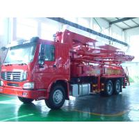 China 125M3 / H 21m Concrete Pump Truck With With Big Bearing Capacity And Small Swing wholesale