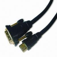 China Double Mold HDMI Male to DVI Male Cable with -25 to +85°C Working Temperature wholesale