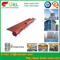 China Low Pressure Steel Electric CFB Boiler Header Boiler Steam Header Water Tube Structure wholesale