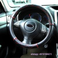 China special design black leather car interior accessories steering wheel cover wholesale
