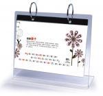 China Office Clear Acrylic Calendar Holder on Table Top Custom 148mm x 210mm wholesale