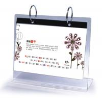 Quality Office Clear Acrylic Calendar Holder on Table Top Custom 148mm x 210mm for sale