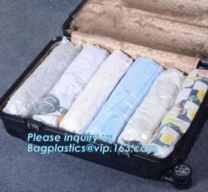 China vacuum quilt packing bags, flat vacuum seal space saver bags, compression caky vacuum travel bag, bagplastics, bagease on sale