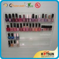 China Clear Acrylic Nail Polish Wall Display Rack, custiomized tier nail polish rack wholesale