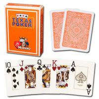 China XF Italy Modiano Texas Poker 2 Jumbo Index|orange Single Card Deck|100% Plastic Playing Cards|gamble cheat|pokercheat on sale