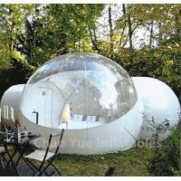 China Outdoor Inflatable Camping Bubble Tent with 2 tunnels wholesale