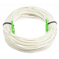 China Anti - Bending Fiber Optical Cable Single Mode White Color With LSZH Material wholesale