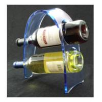 Quality Transparent Acrylic Wine Bottle Display Rack , Plexiglass Bottle Holder for sale